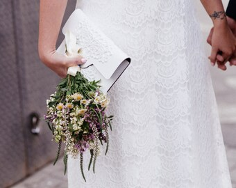 Bridal clutch / wedding clutch bag / white vinyl clutch purse / easy to clean clutch / vegan clutch bag / standout and ethical / congrats!