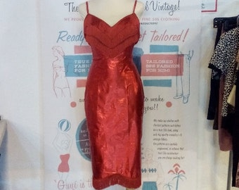 Macarena Lamé Dress, ready made in size small