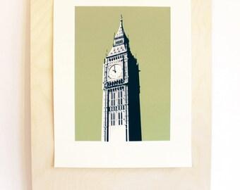 Big Ben - London Landmark 30 x 40 cm Limited Edition Screenprint