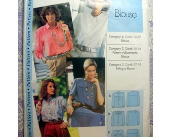Women's Blouse Sewing Pattern, Long or Short Sleeves Size 4, 6, 8, 10, 12, 14, 16, 18, 20, 22 Uncut Sewing Step-by-Step IMP BV/IMP Inc.