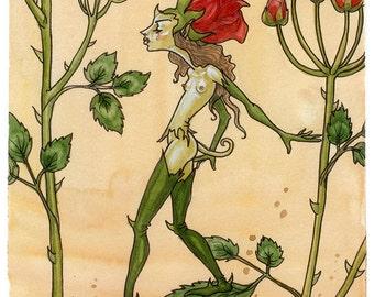 Rose Creature - art print