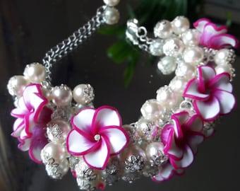 Polimer clay Bracelet Cluster Bracelet Designer jewelry Wedding bracelet