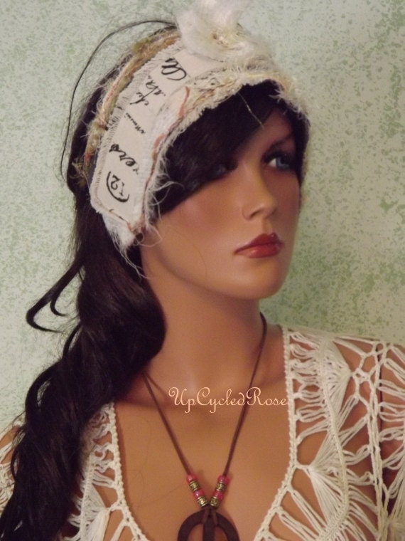 Lillian's Journey to Shabby Couture Bohemian Chic Trash Fashion Hair Wrap Head Band