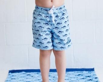 Monogrammed Boys Swim Trunks Toddler Shorts Swimsuit