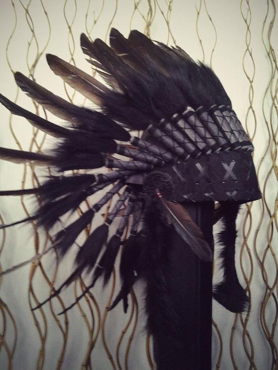 N64- Indian Black Feather Headdress