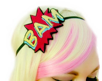 Comic Book Headband - Comic Book Wedding - Super Hero Headband - Superhero Clothing - Superhero Headband - Cosplay Hair Accessories