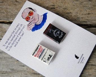 Hunter S. Thompson's miniature book pins set