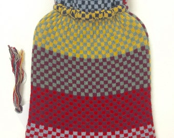 Hot Water Bottle Cover - Lambswool - Hand Made