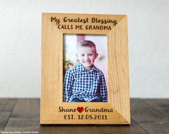 my greatest blessing calls me grandma customized picture frame gift for grandma from grandchild
