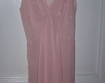 Beautiful Romantic Pink Vinage Style Slip with Sequins