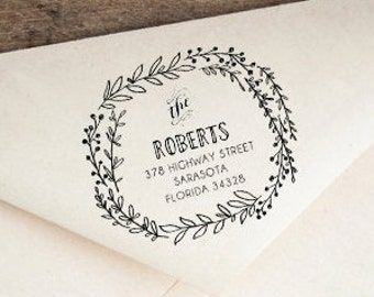 Custom Address Stamp, Rubber Stamp, Wedding Stamp, Thank You Stamp, Calligraphy Stamp