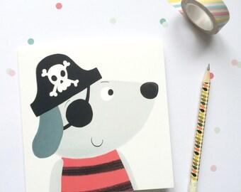 Pirate Dog Greetings Card