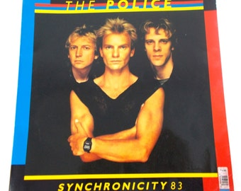 1983 The Police Syncronicity Sting Official Vintage Concert Tour Program