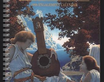 Maxfield Parrish, 1996 Engagement Calendar, vintage day planner