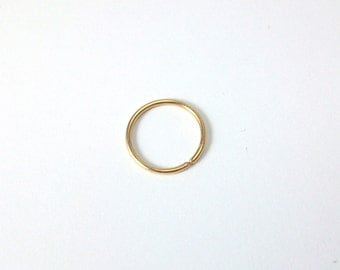 Gold Filled Hoop Earrings, small tiny sleeper earring, 20 Gauge cartilage, tragus, nose, lip ring, continuous hoop SINGLE EARRING