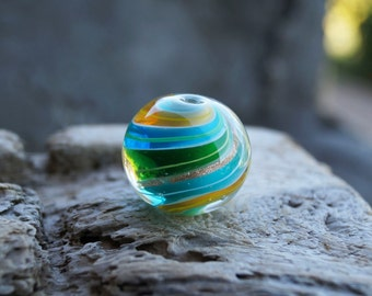 Lampwork bead. Multicolour ball