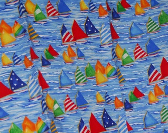 SALE FQ Sail Boats Fabric Debi Horn forTimeless Treasures  Fabric Bundle - 100% High Quality Cotton