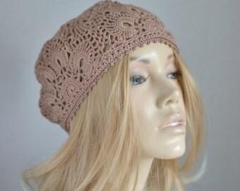 Summer womens crochet hat, Flower hat,  Ladies hat, Ladies crochet hat, Womens Fashion, Accessories, Handmade Crochet Hat
