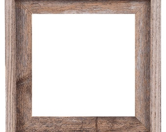 10x10 2 wide barnwood reclaimed wood open frame no glass or - Wood Picture Frame