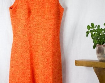 Tangerine Dream - Handmade 60s Mini Dress
