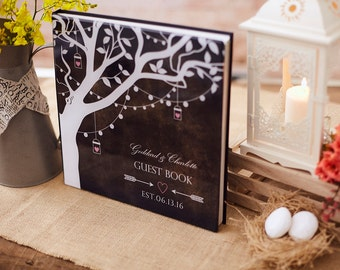 Wedding Guest Book Ideas - Alternative to a Guest Book - Rustic Wedding Guest Book Tree - Rustic Wedding Decor - Acrylic Glass Cover - GB#10
