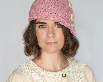CROCHET PATTERN - Rosebud Cloche Hat, 1920's Flapper Hat