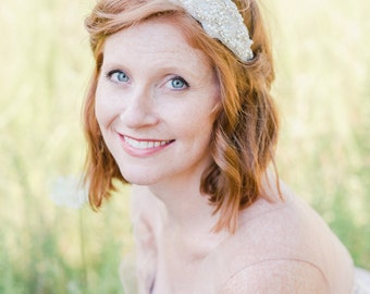 Rhinestone Bridal Headband - Wedding Headband - Bridal Headband - Flower Girl Headband - Rhinestone Headband - Gatsby Headband - Bridal