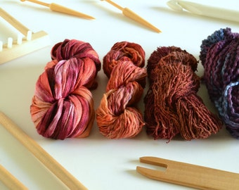 SUNSET Hand-Dyed Texture Yarn Pack