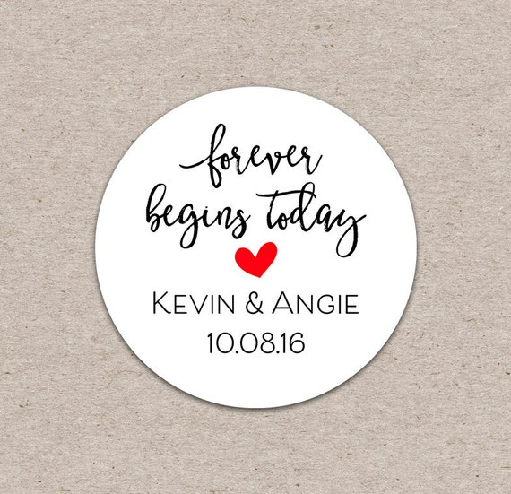 stickers wedding favor sticker thank you sticker custom wedding