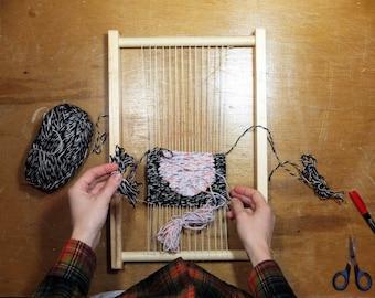 handmade wooden frame loom 12 x 18 tapestry weaving