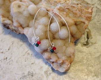 Christmas Cheer Marquise Earrings