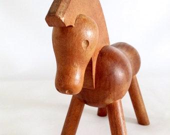 Wooden Horse, Kay Bojesen Denmark, Mid Century, Danish Modern Style, 1950s, Vintage Collectible
