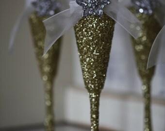 Gold Glitter Champagne Glasses, Glitter Champagne Glasses, Gold Champagne Glasses,Champagne Glass, Gold Glitter Wine Glass, Champagne Flutes