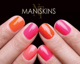 MANISKINS The original nail protection shields for nails, 56 fingernail armor films by NAILTHINS