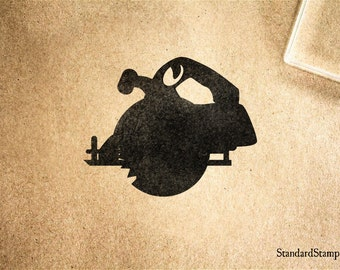 Circular Saw Rubber Stamp - 2 x 2 inches