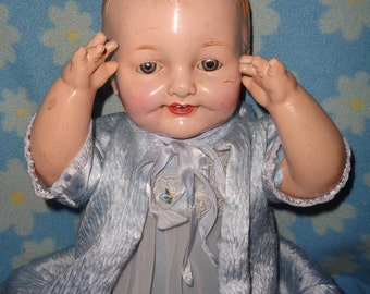 "Wonderful Large 23"" Composition Baby Doll"