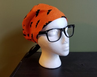 Orange Bats Fall / Halloween Surgical Scrub Hat