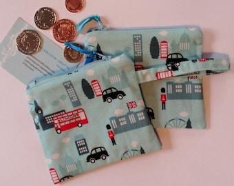 Coin purse, fabric purse, change purse, purse,london  purse