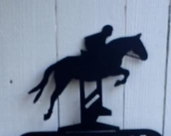 Horse Jumping, Steeplechase, Metal Horse Memorial, Pet Memorial, Pet Memorials, Address Sign, Western Signs, Horse Welcome Sign, Horse