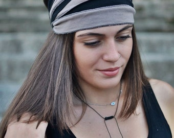 Dark Beige Headband, Dark Blue Headwrap, Running Headband, Yoga Headband, Boho Headband, Workout Headband, Womens Turban, Womens Headband