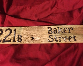 Sherlock Holmes- Baker Street Pallet Sign