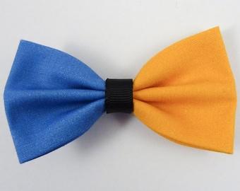 Orange & Blue Hair Bow