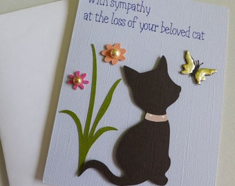 Loss of Cat Sympathy card