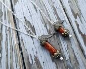 Final Fantasy Phoenix down necklace - Final Fantasy 8 necklace - Video game jewelry - Phoenix Necklace - Pheonix down necklace