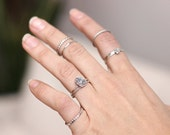 Stacking Rings // Midi Rings // Dainty // Stackable // Set of 5