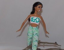 Peace & Pockets-  Pants and Top,  1:6 Scale Fashion Doll Clothes.