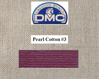 DMC Pearl 3 - Medium Dark Antique Mauve - Color 315 - 15 Meters - By the Skein