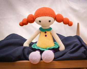 Erin the Redhead Little Girl Doll Stuffed Toy (Made to Order) Can get in other clothes/colors