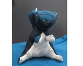 Dramatic squirrel - cute stuffed animal - cotton fabric decoration / soft toy
