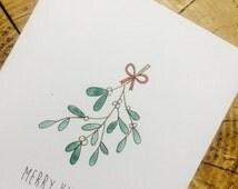 Merry Kiss-Mas // Cute christmas card